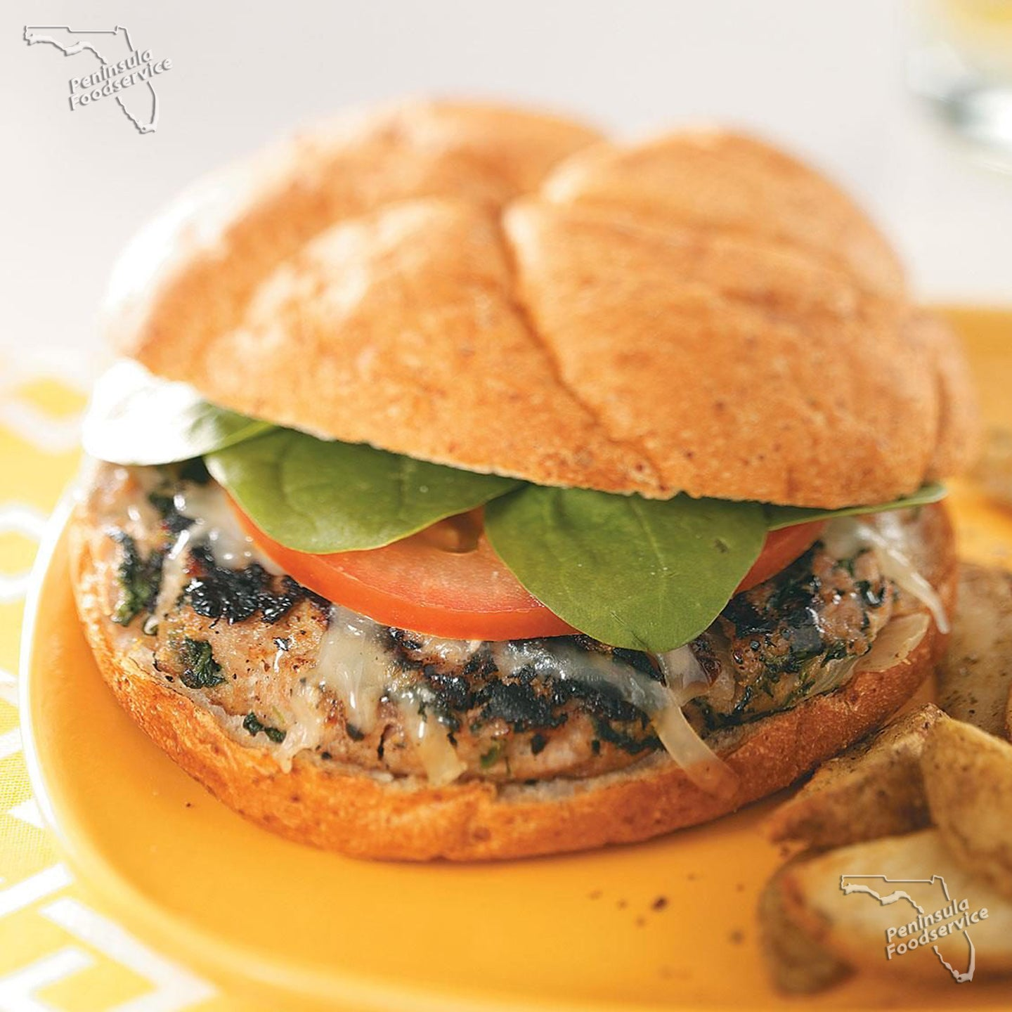 Chicken Florentine Patty 3.oz [$0.88/ea]