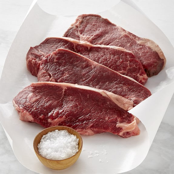 Beef New York Strip Steak Boneless GRASS-FED ORGANIC [$8.10/ea]