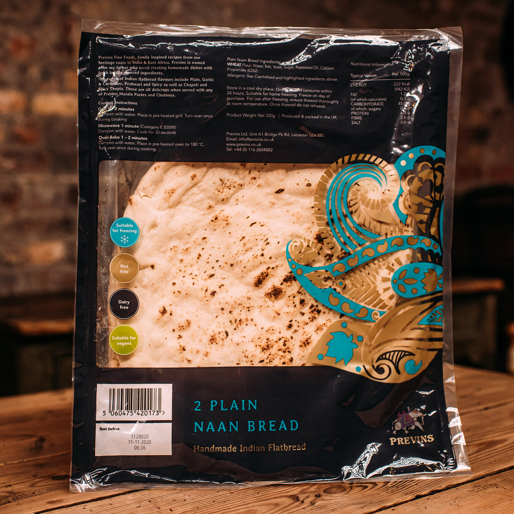 Previns Garlic Naan 2 pack