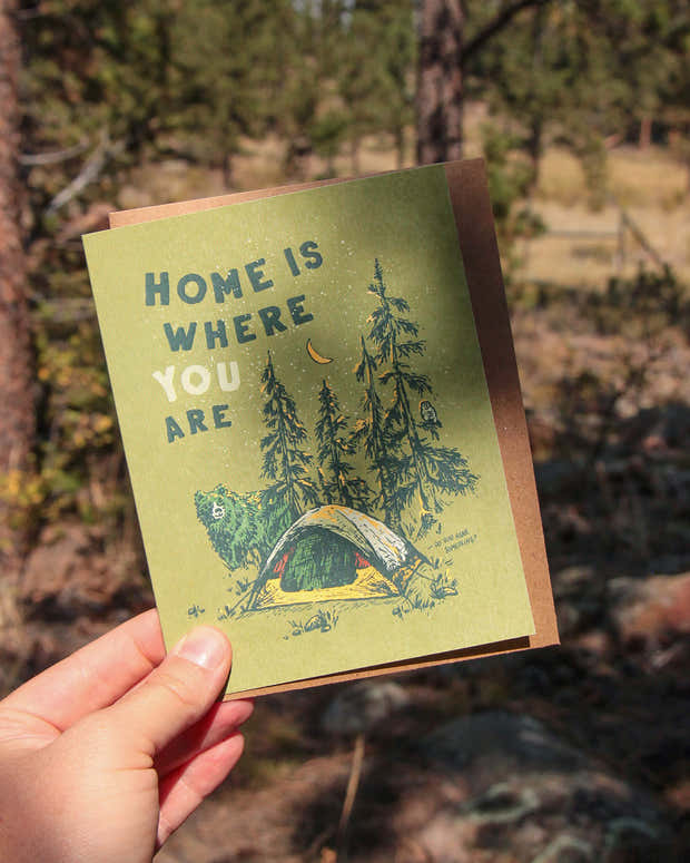 Home is Where You Are Greeting Card 1