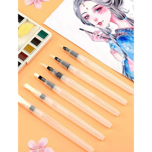 Refillable Water Color Pens- 6 set
