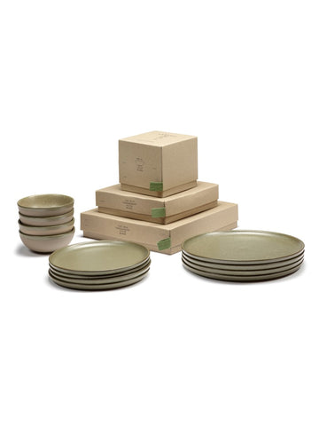 Servies set (12-delig) Camo Green Surface by Sergio Herman
