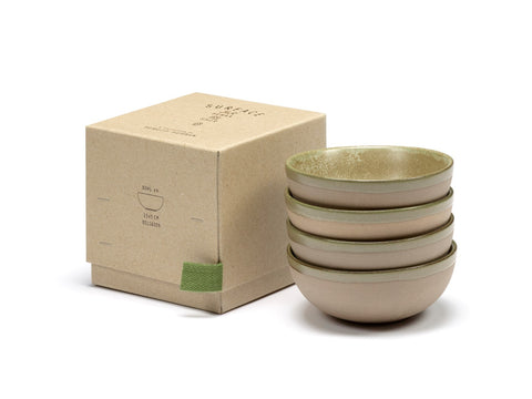 Servies kommetjes set (4-delig) Camo Green Surface by Sergio Herman
