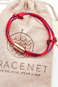 Recycling Armband Bracenet Red Sea 2 mit Magnetverschluss in rosé