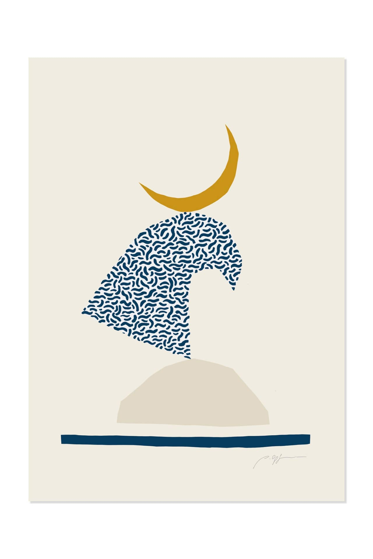 Surf Illustration Balance Pia Opfermann