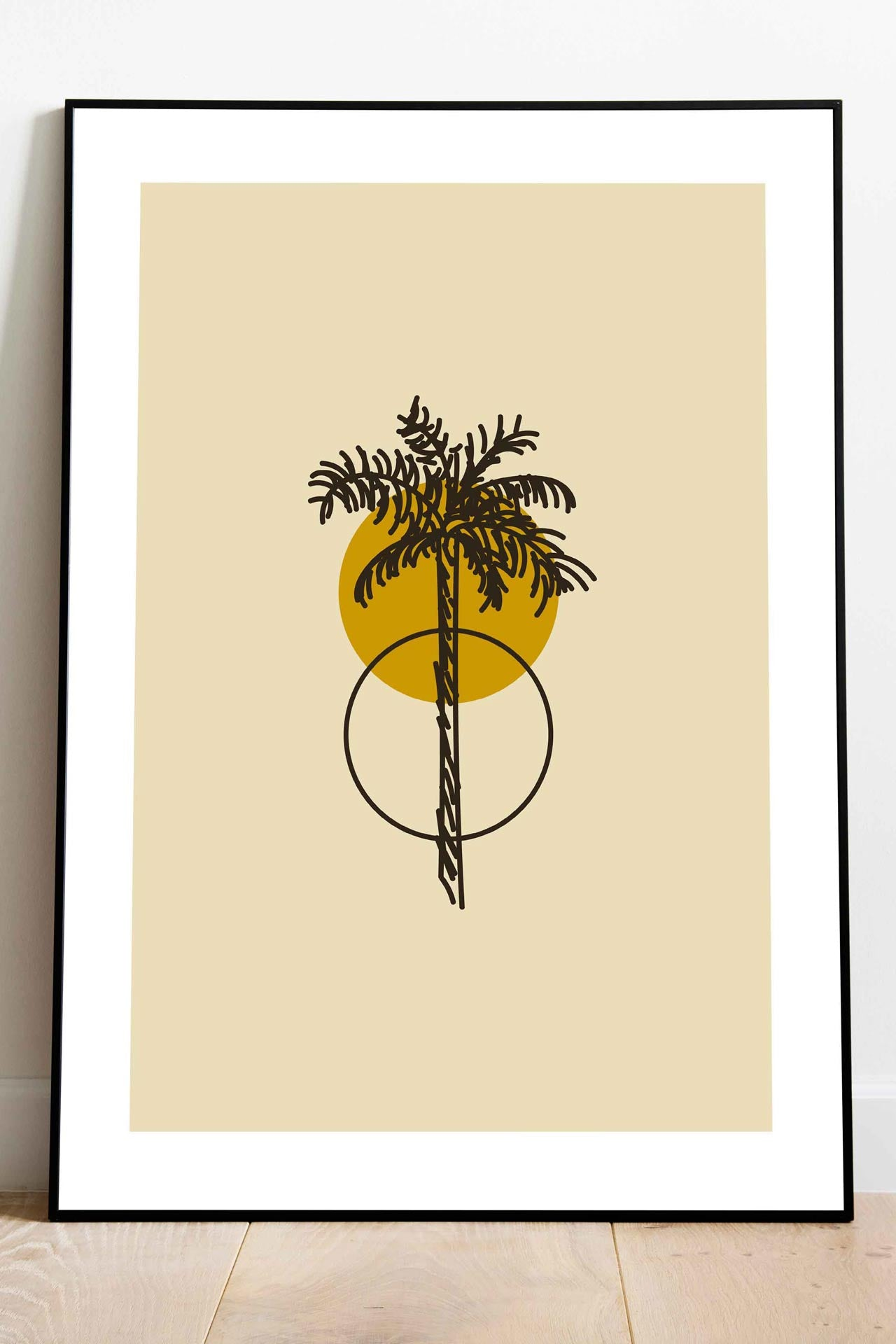 Surf Art Print Palm Moon Sun Artflocke