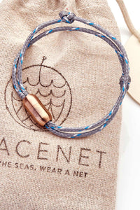 Upcycling Armband Baltic Sea von Bracenet Magnetverschluss in Rosé