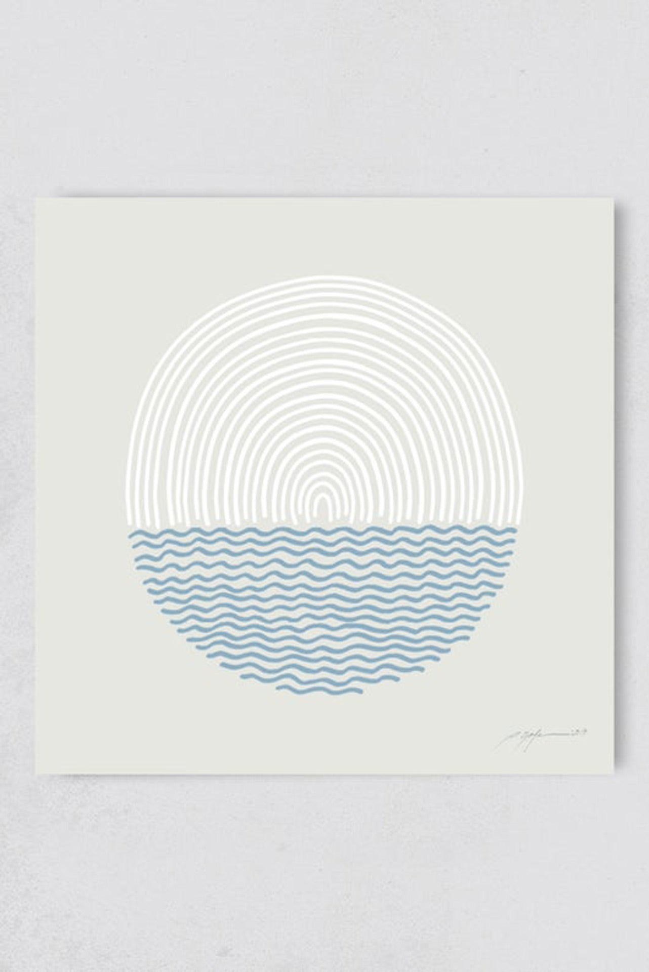 Surf Illustration Sea and Sun Pia Opfermann