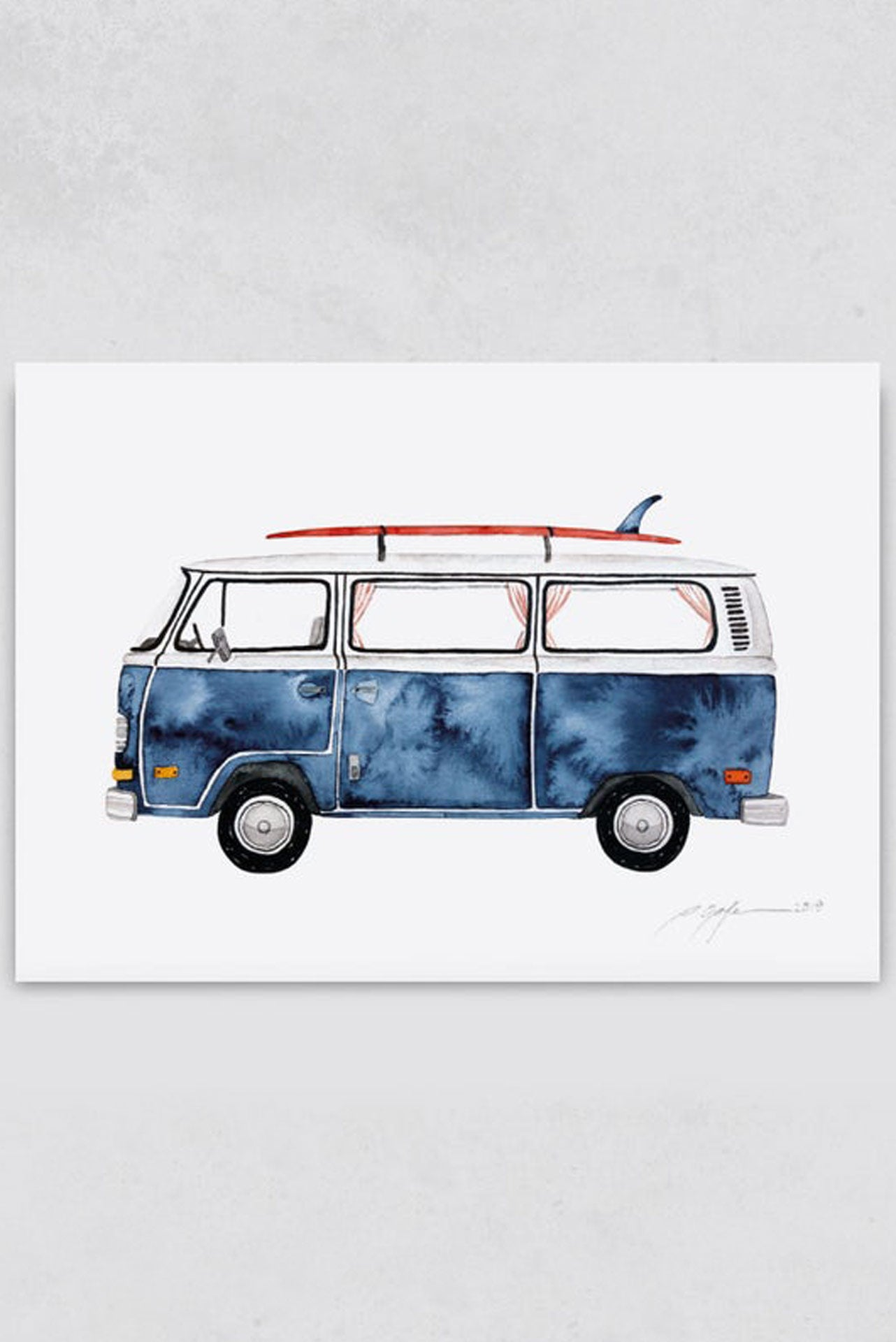Surf Illustration Surf Art Print Pia Opfermann