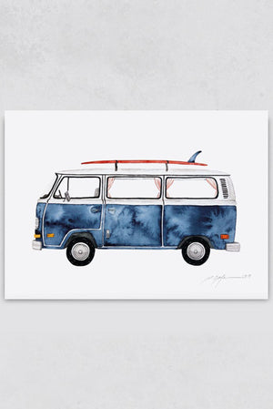 Surf Illustration Surf Art Print Pia Himmelein