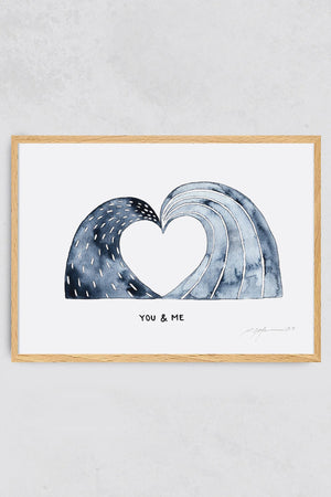 Surf Art Print You and Me Pia Himmelein