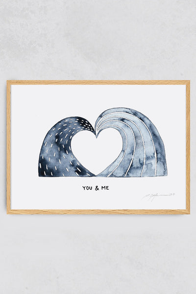 Surf Art Print You and Me Pia Opfermann