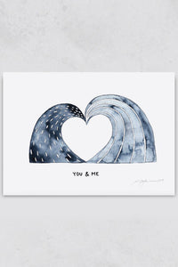 Surf Illustration You and Me Pia Opfermann