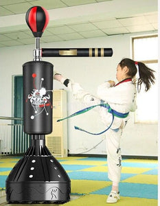 Professional Heavy Stand Punching Bag & Kicking Pad with 360° Reflex Bar - Free Shipping