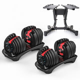Adjustable Dumbbell Set 52.5lb/24kg to 90lb/40kg (For All Fitness Levels) - FREE SHIPPING !