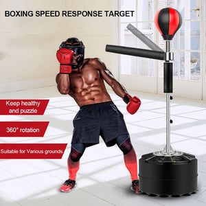 Professional Heavy Stand Punching Bag with 360° Reflex Bar - Free Shipping