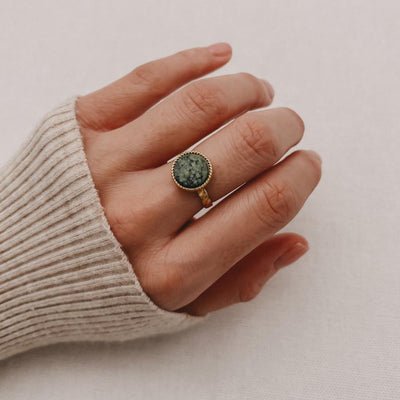 Ring - Green Marble - Shoppinator.com