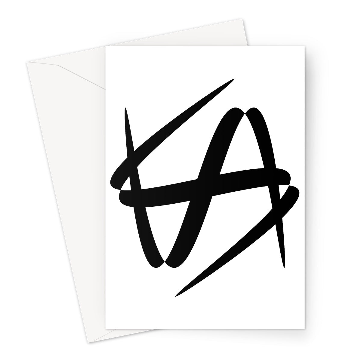 Lissajous Glyph S39 - Greeting Card