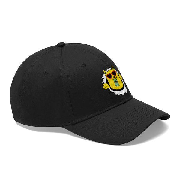 Skateboard Money Cat - Baseball Cap