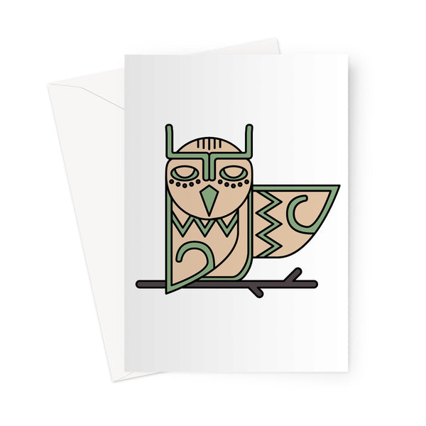 Totem Owl - Greeting Card