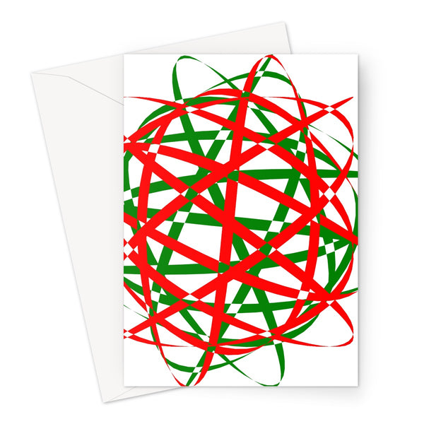 Lissajous Festive S40 - Greeting Card
