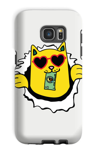 Skateboard Money Cat - Phone Case
