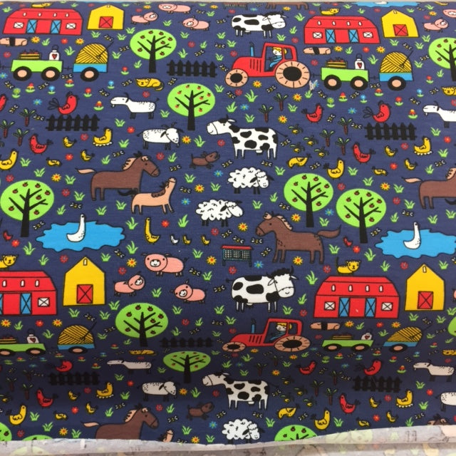 Cotton Jersey Farm Fabric