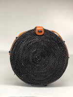 Ndeye Black Rattan Bag