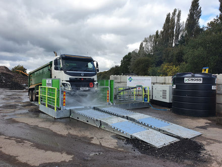 Cross Plant Hire Incorporate Audex Pumps in New Wheelwash System