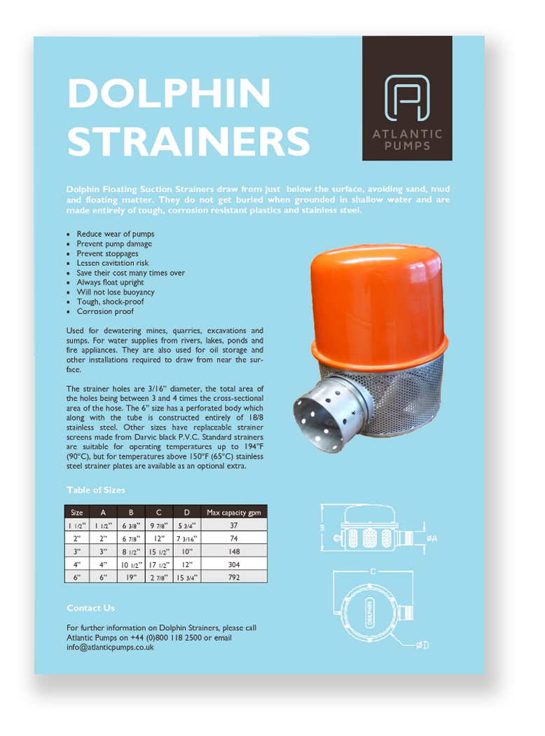 Dolphin Strainers flyer