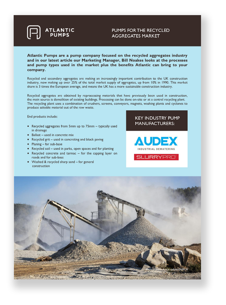 Pumps for the Recycled Aggregates Market white paper