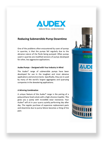 Reduce Submersible Pump Downtime flyer