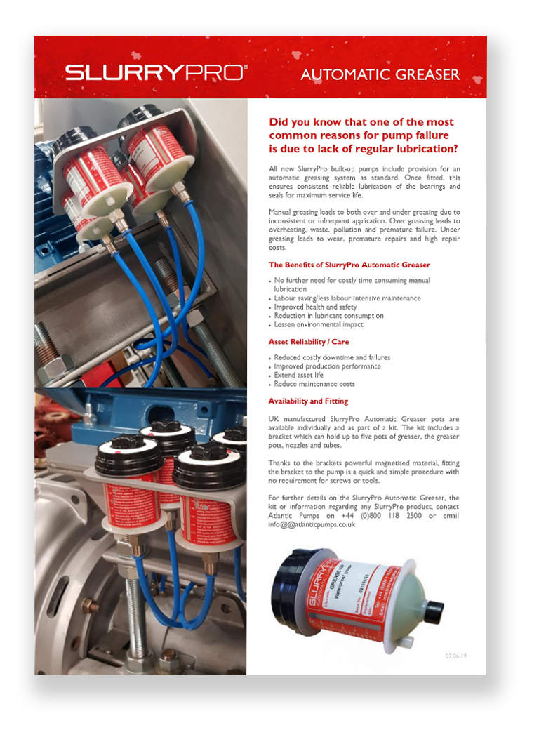 SlurryPro Automatic Greaser flyer