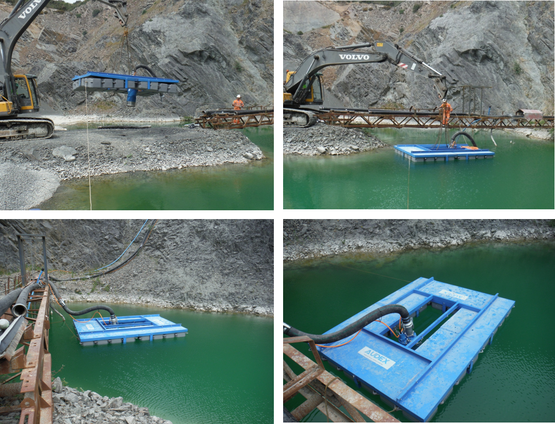 An Audex pontoon and AS 6-2200 TC are installed.