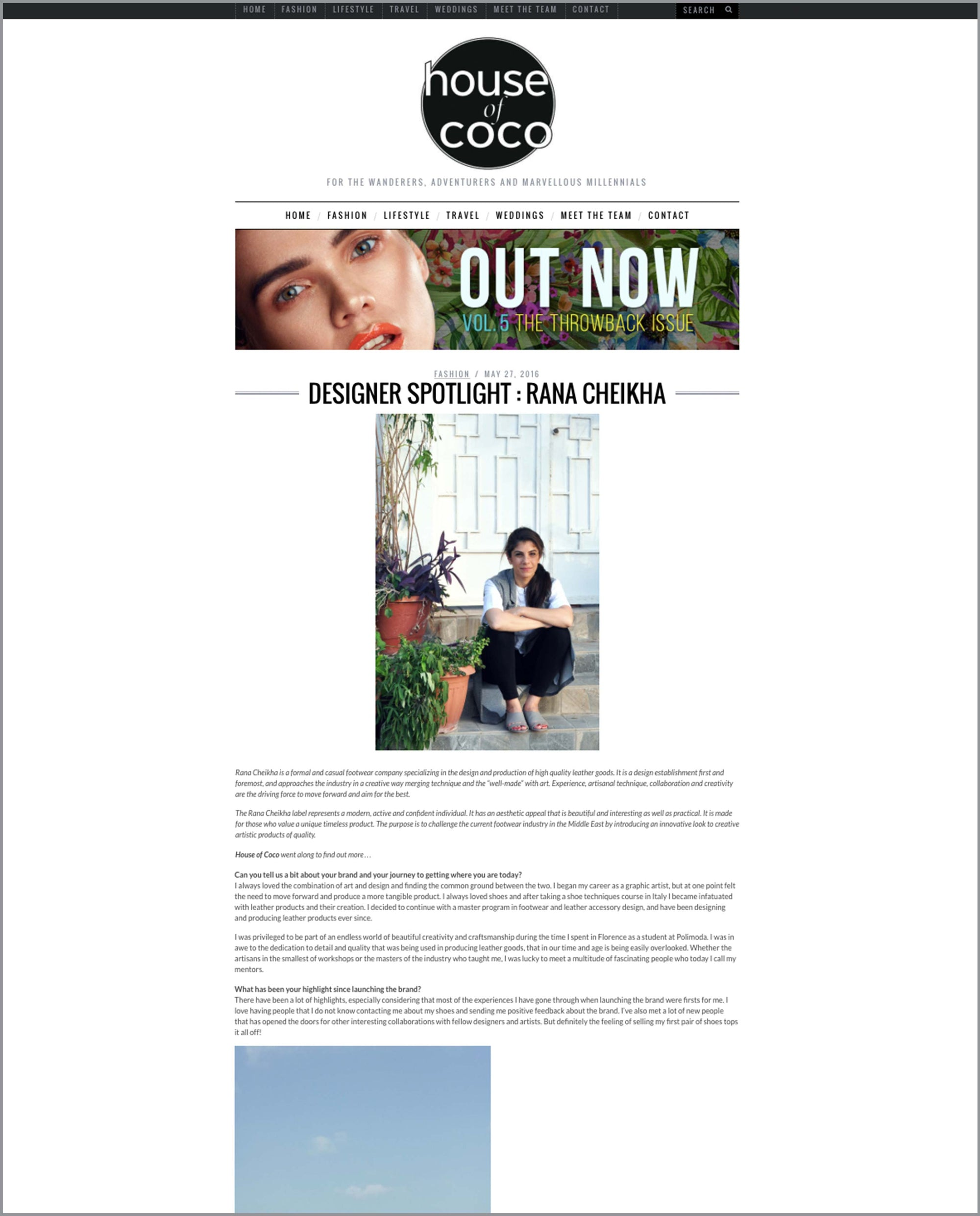 House of Coco Magazine ranacheikha
