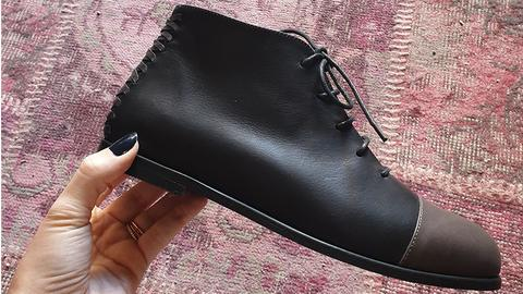 ankle boot leather handmade