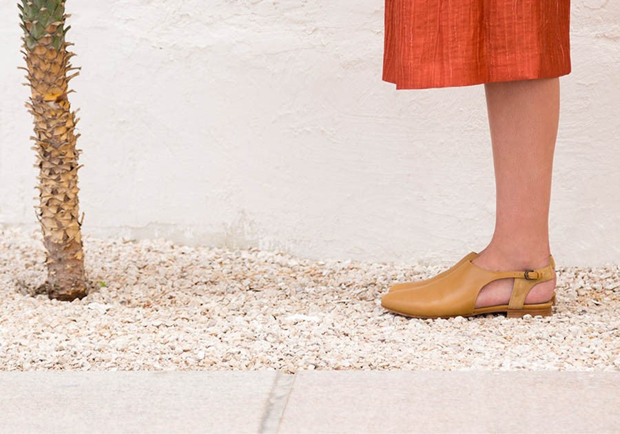 Rasha Shoe | Tan Calfskin Leather