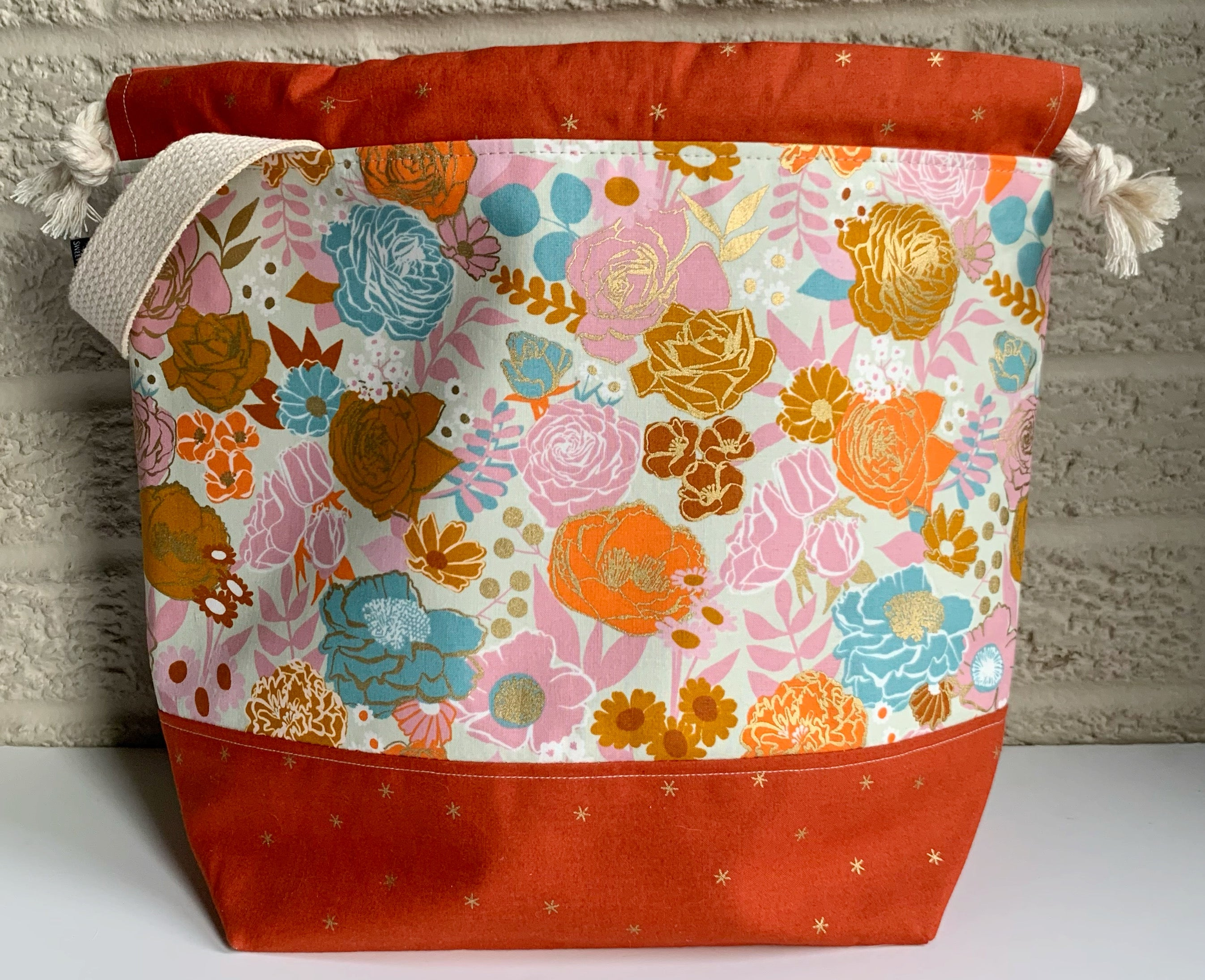 Large Project Bag - Cayenne Rose