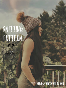 The Sunday Morning Beanie KNITTING PATTERN