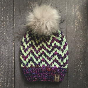 The Zigzag Beanie - Boreal + Mint