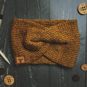 Turban Twist Headband - Copper Honey