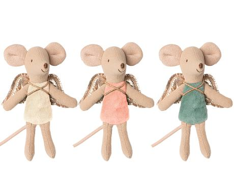 PRE ORDER/Maileg 16-0728-00 Fairy Mouse, little sister - peach