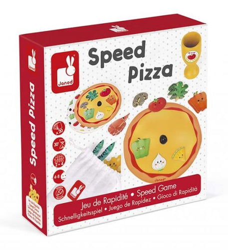 Janod J02782 spel Speed Pizza - snelheidsspel 4+