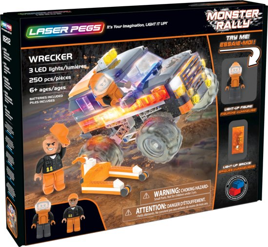 Laser Pegs Monster Rally Wrecker (compatibel met LEGO)