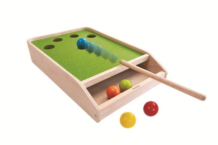 PlanToys 4629 Ball shoot board game - biljartspel