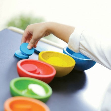 PlanToys 5360 Sort & Count cups - sorteer en tel set
