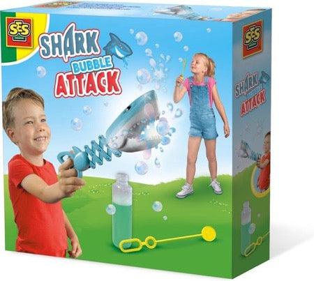 SES Creative shark bubble attack blauw 200 ml