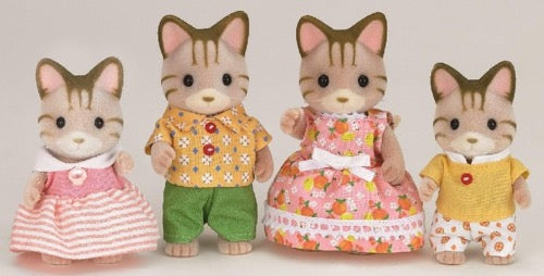 Sylvanian Families striped cat family - Tijgerkat familie - 5180