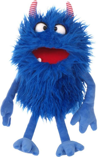 Living Puppets W776 handpop Monster to go Schmackes blauw