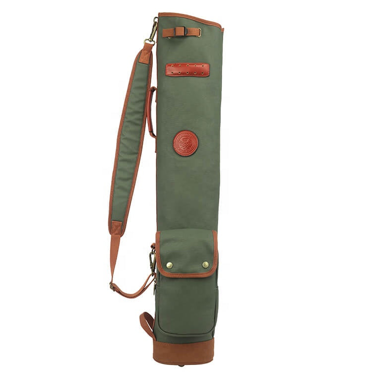 Waterproof Canvas/Leather Golf Sunday Bag